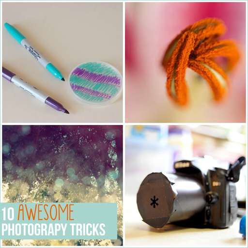10 Awesome Photography Tricks via lilblueboo.com