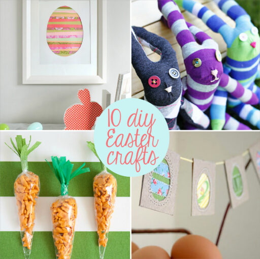 10 DIY Easter Crafts, Clothing, Art and more via lilblueboo.com
