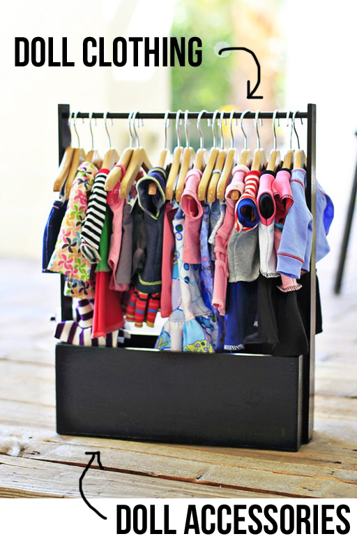 Easy Doll Clothing Storage Rack
