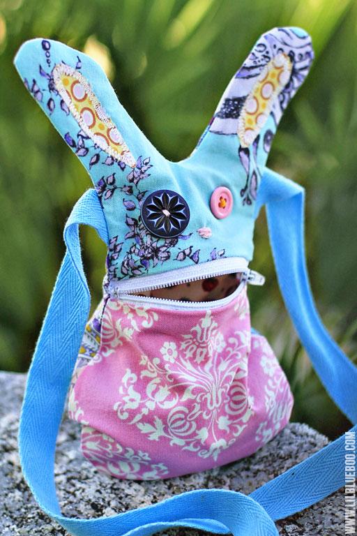 Make a DIY Bunny Purse via lilblueboo.com