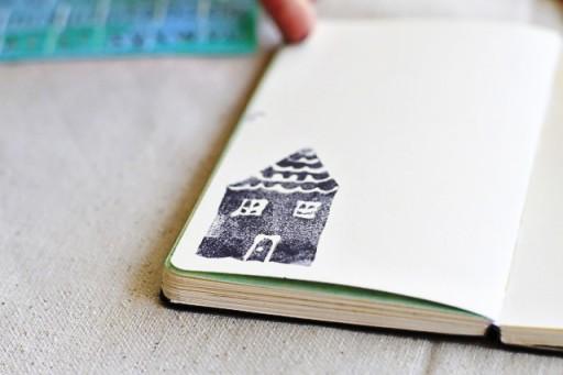 No-carve stamps via lilblueboo.com #diy #crafts #tutorial #artjournal