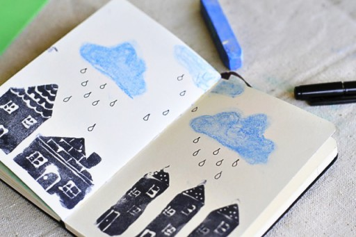 Art Journaling and stamps via lilblueboo.com #diy #crafts #theliljournalproject #tutorial #artjournal