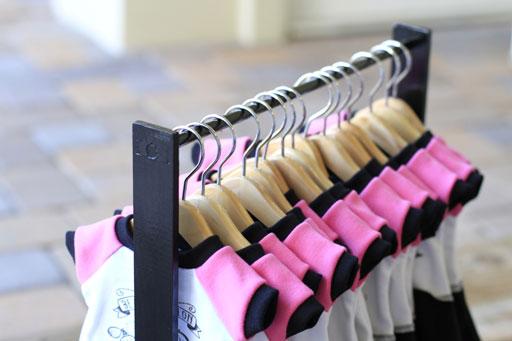 How to make an American Girl clothing rack via lilblueboo.com #diy #tutorial #americangirl