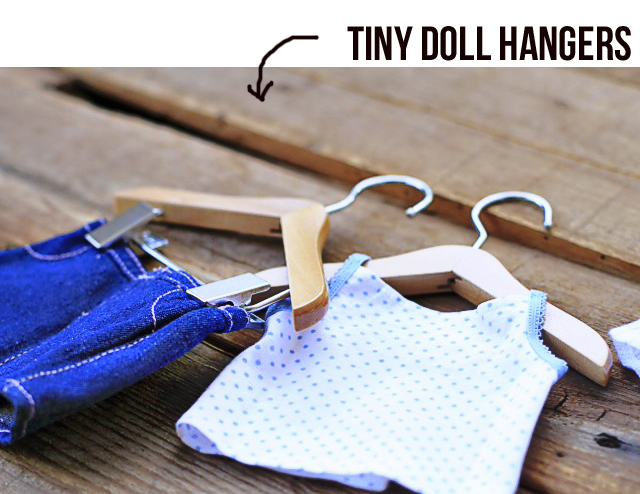 these tiny doll hanger from only hangers are so cute