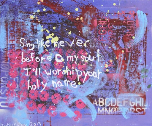 """Sing Like Never Before by 6-year-old """"Boo"""" Hackshaw via lilblueboo.com #painting"""