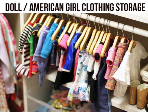 American Girl Clothing Rack via lilblueboo.com