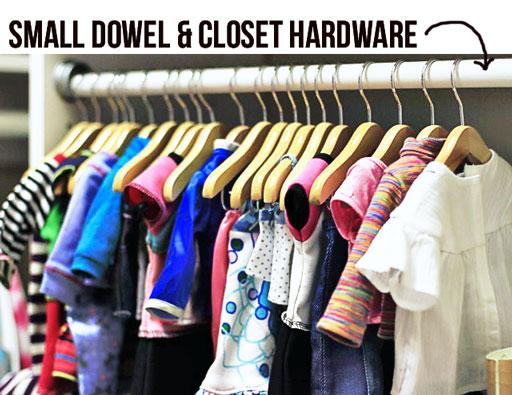 closet for doll clothes storage ideas via lilblueboo.com