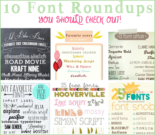 10 Free Font Roundups You Should Check Out via lilblueboo.com