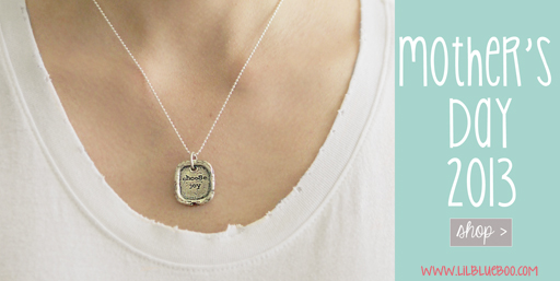Give a Choose Joy Necklace to Mom this Mother's Day via lilblueboo.com