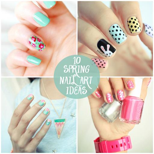 10 Spring Nail Art Manicure Ideas via lilblueboo.com