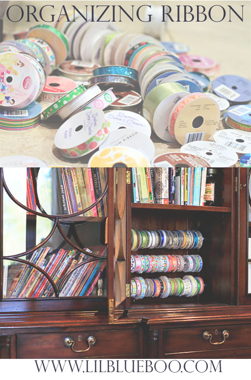 How to organize ribbon, washi tape etc. via lilblueboo.com
