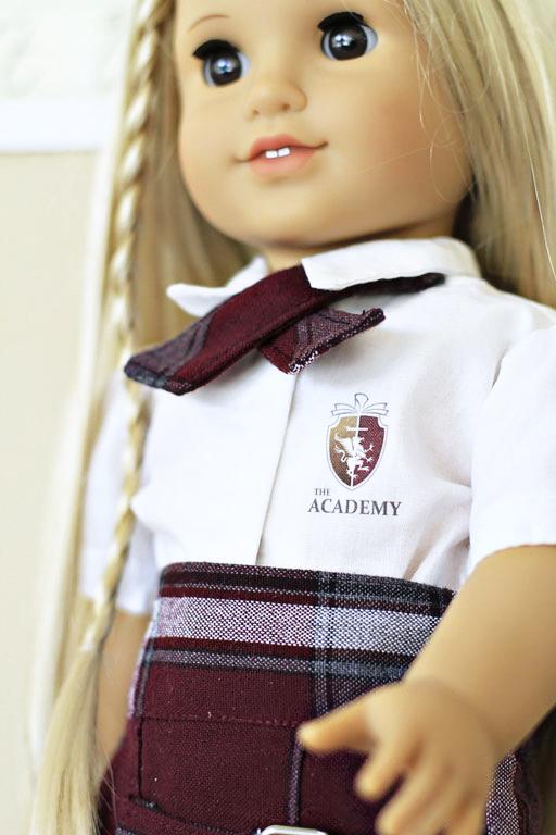 matching doll school uniform via lilblueboo.com