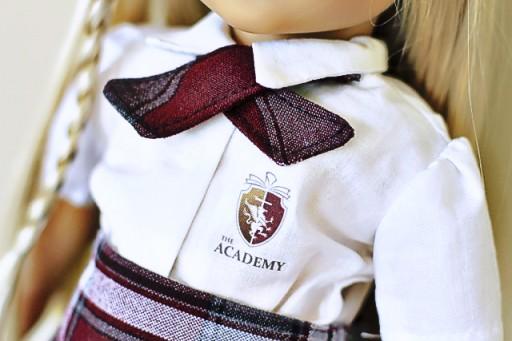 White uniform shirt for an American Girl via lilblueboo.com