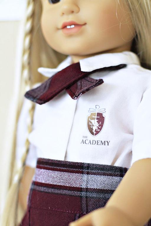 """American Girl Doll School Uniform via lilblueboo.com #americangirl 18"""" doll"""