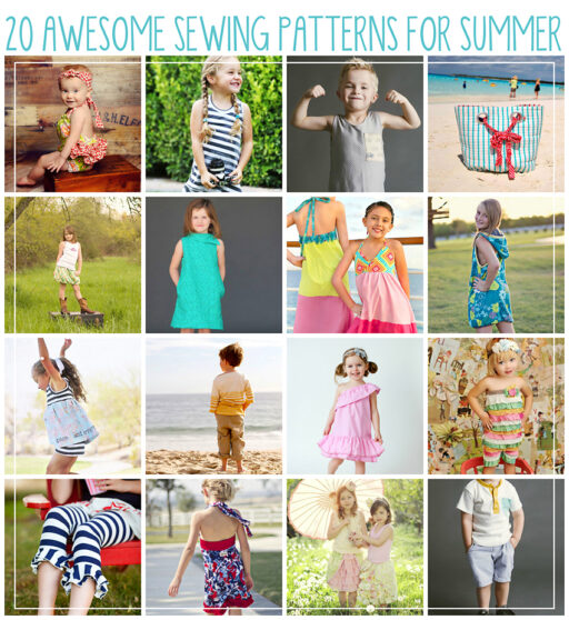 20 awesome sewing pattern ideas for summer via lilblueboo.com