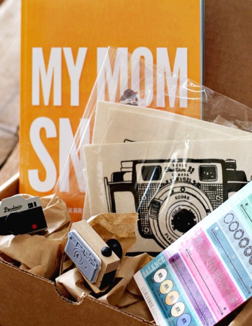 Lil Blue Box for the Photographer Mom. Ships in time for Mother's Day via lilblueboo.com