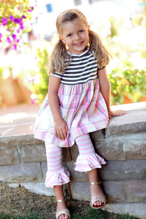 Doe a Deer Tunic with Double Ruffle Leggings: Spring 2013 Dreamer Collection I via lilblueboo.com