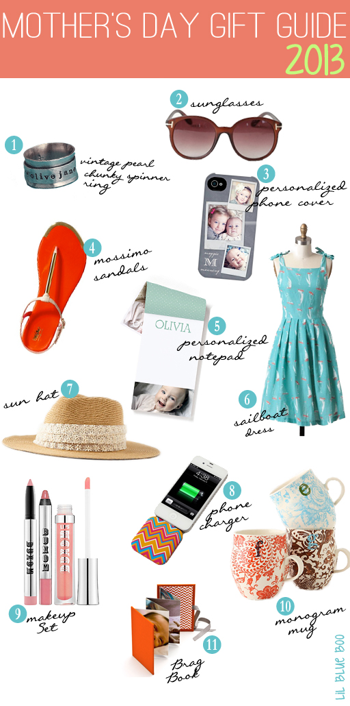 Lil Blue Boo's 2013 Mother's Day Gift Guide via lilblueboo.com