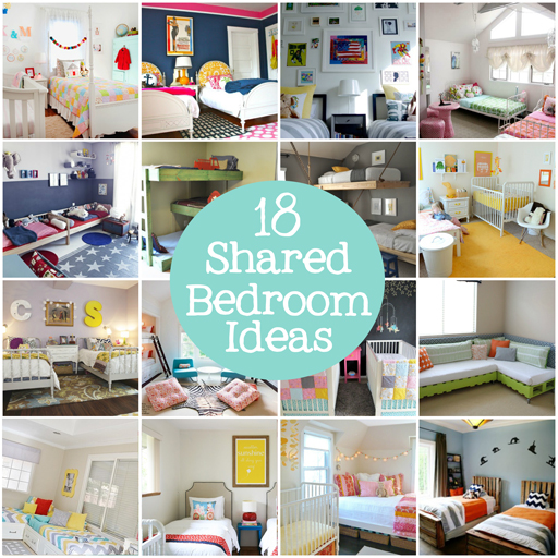 18 shared bedroom ideas for kids via lilblueboo.com