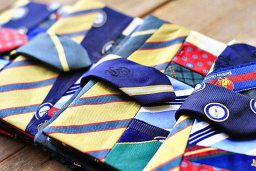 repurposing mens ties via lilblueboo.com