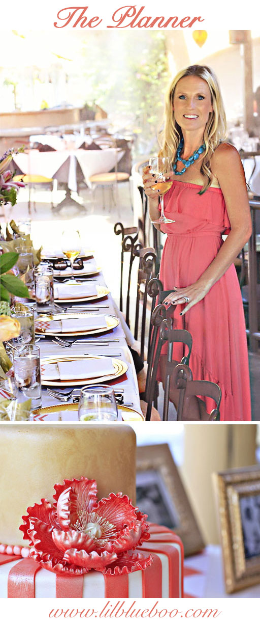 birthday party table decor via lilblueboo.com #diy #party #decor #chevron #coral