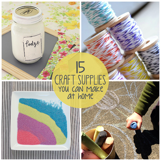 15 craft supplies you can make at home