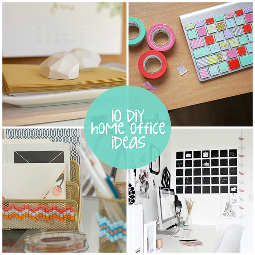 10 DIY Home Office Makeover Ideas via lilblueboo.com