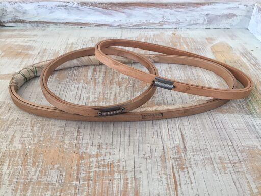 Duchess Oval and Holdtite embroidery hoops by Gibbs Manufacturing based in Canton, Ohio