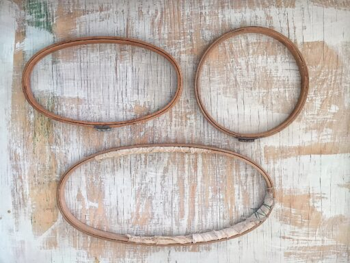 Vintage Sewing Supplies - Antique embroidery hoops by gibbs manufacturing canton, oh