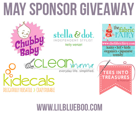 I want to win the May Sponsor Giveaway at lilblueboo.com