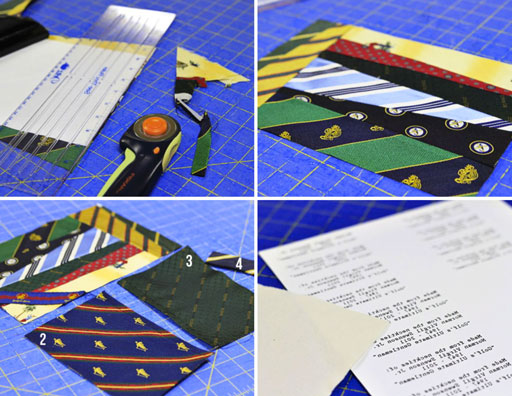 upcycled necktie photo album via lilblueboo.com