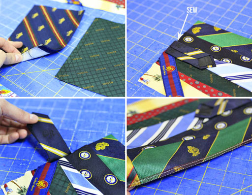 how to make a fabric covered photo album using ties via lilblueboo.com