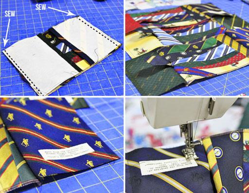 how to make a photo album from ties via lilblueboo.com