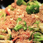 Easy Vegetable Fried Rice Recipe via lilblueboo.com