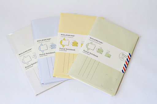 Moleskine Travel Journal Postal Notebooks via lilblueboo.com