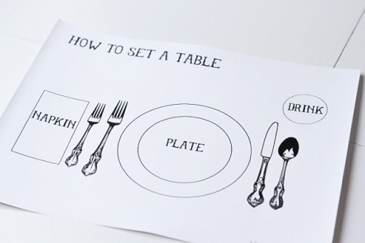 How to set a table via lilblueboo.com