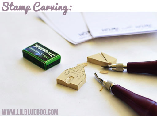 DIY Carved Stamp via lilblueboo.com