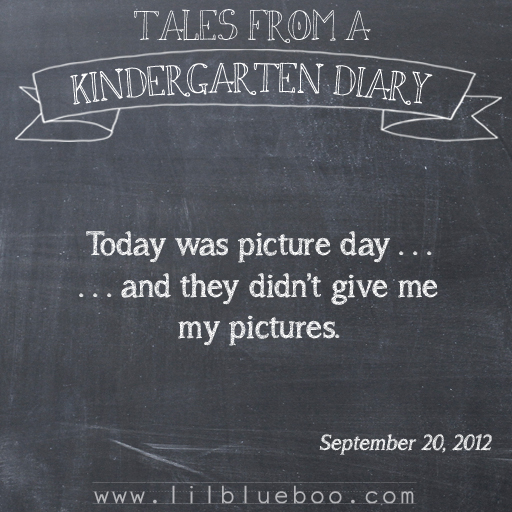 Tales from a Kindergarten Diary Entry: Picture Day booism via lilblueboo.com