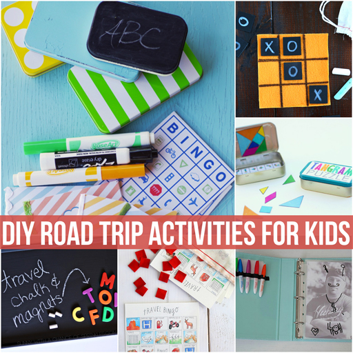 DIY Road Trip Activities for Kids via lilblueboo.com
