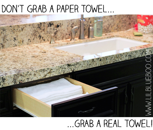 how to make reusable paper towels via lilblueboo.com