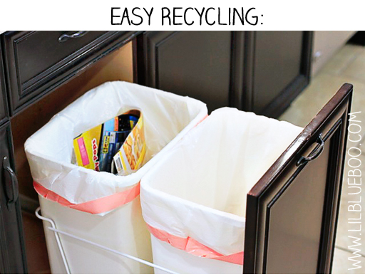 Easy Recycling Station via lilblueboo.com