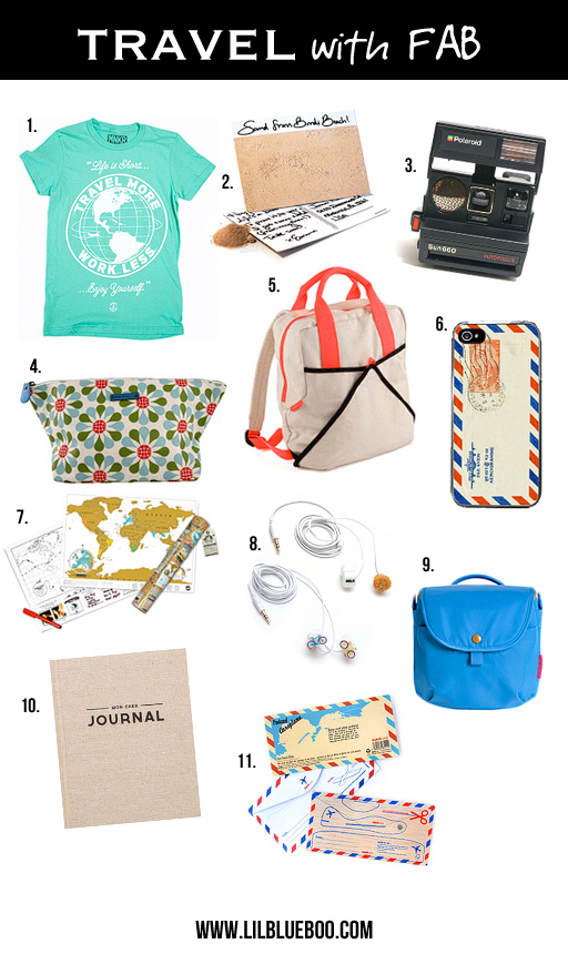 Fun travel gift ideas from Fab via lilblueboo.com