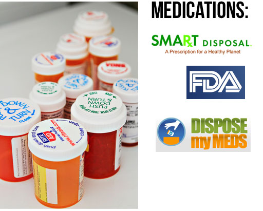 How to properly dispose of medications via lilblueboo.com (links below) #recycle