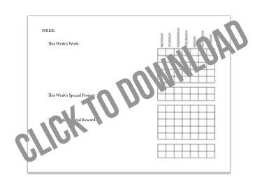 Summer Checklist Chore Chart Download via lilblueboo.com