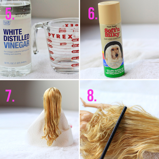 How to get the tangles out of doll hair via lilblueboo.com