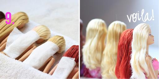 Doll hair detangle tutorial via lilblueboo.com