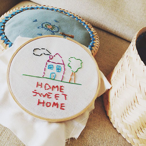 Summer activity idea: teaching kids basic embroidery via lilblueboo.com
