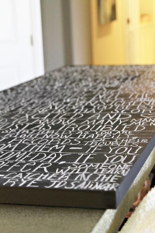 chalkboard quote art via lilblueboo.com