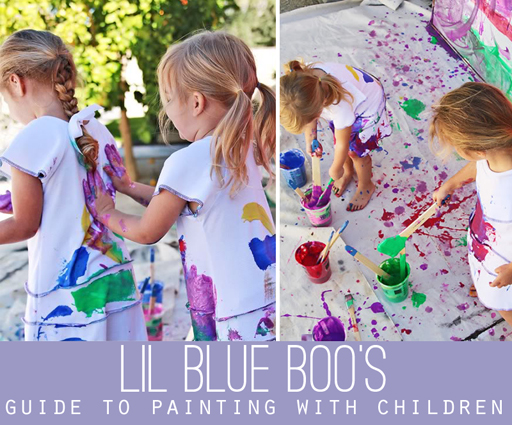 Guide to Painting with Children via lilblueboo.com