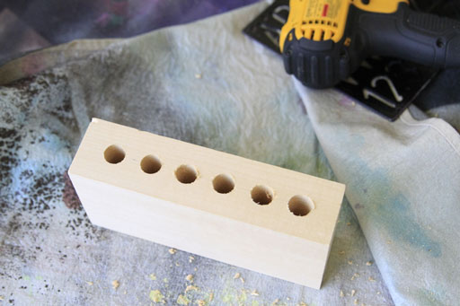 How to drill wide holes in wood via lilblueboo.com